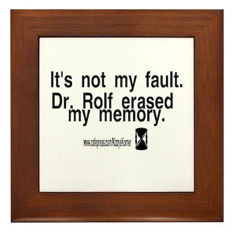 DOOL DR. ROLF Framed Tile