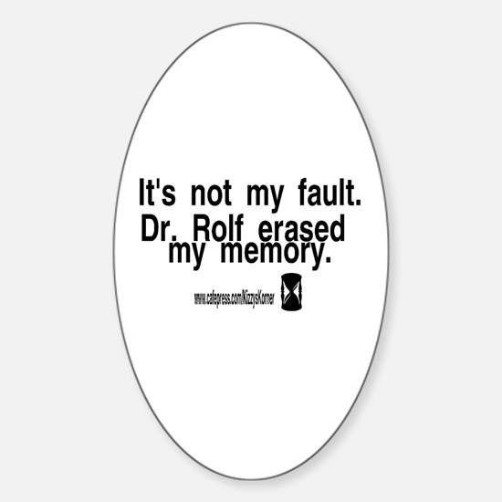 DOOL DR. ROLF Oval Decal