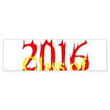 Class of 2016 Flame Bumper Bumper Sticker