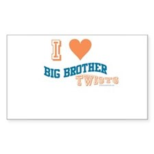 BIG BROTHER TWISTS Rectangle Decal