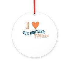 BIG BROTHER TWISTS Ornament (Round)