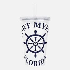 Summer fort myers- flo Acrylic Double-wall Tumbler