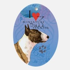 Miniature Bull Terrier Oval Ornament