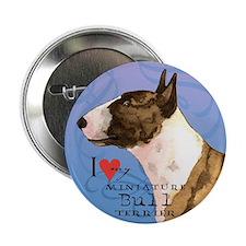 """Miniature Bull Terrier 2.25"""" Button"""