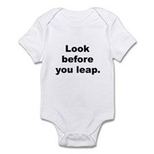 Look before you leap Infant Bodysuit
