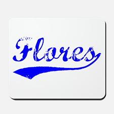 Vintage Flores (Blue) Mousepad