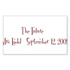 The Future Mrs Ladd Sep Rectangle Decal