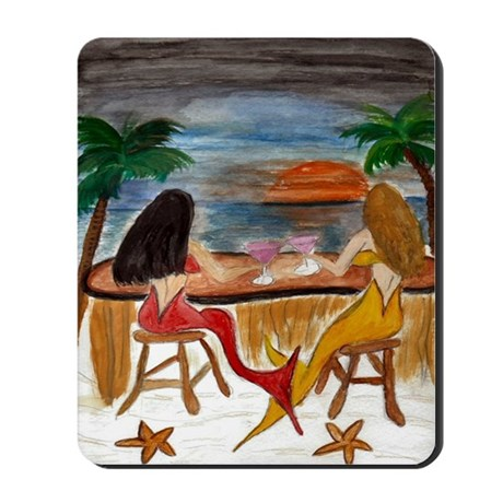 Martini Mermaids Mousepad