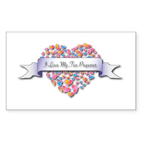 Love My Tax Preparer Rectangle Sticker