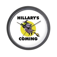 HILLARY WITCH Wall Clock