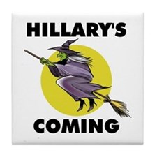 HILLARY WITCH Tile Coaster