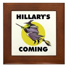 HILLARY WITCH Framed Tile