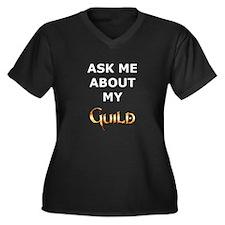 About Women's Plus Size V-Neck Dark T-Shirt