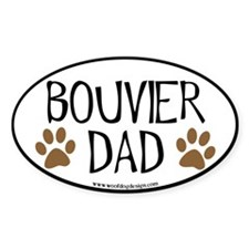 Bouvier Dad Oval Oval Decal