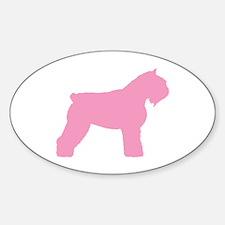 Pink Bouvier Des Flandres Oval Decal