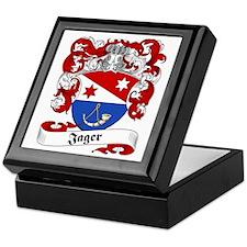 Jager Family Crest Keepsake Box