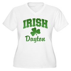 Dayton Irish Women's Plus Size V-Neck T-Shirt