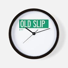 Old Slip in NY Wall Clock