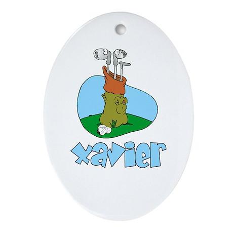 Xavier Oval Ornament