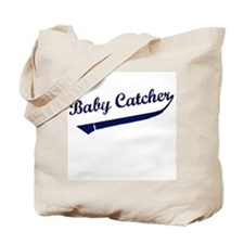 Baby Catcher Baseball Tote Bag