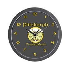 Pittsburgh Drinking Team Wall Clock