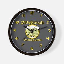 Pittsburgh Drinking Team Wall Clock