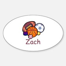 Zach Oval Decal
