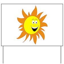 HAPPY SUN Yard Sign