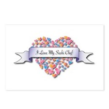 Love My Sushi Chef Postcards (Package of 8)
