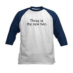 Three is the new two Kids Baseball Jersey