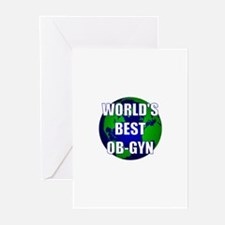 World's Best OB-GYN Greeting Cards (Pk of 10)