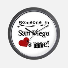 Someone in San Diego Loves Me Wall Clock