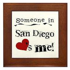 Someone in San Diego Loves Me Framed Tile