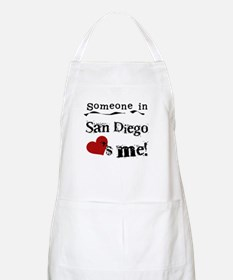 Someone in San Diego Loves Me Apron