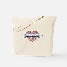 Love My Squash Player Tote Bag