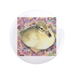 "Snowy Mallard Duckling 3.5"" Button (100 pack)"