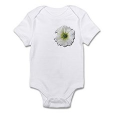 White flower broach dress up Infant Bodysuit