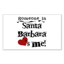 Santa Barbara Loves Me Rectangle Decal