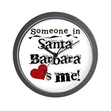 Santa Barbara Loves Me Wall Clock
