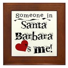 Santa Barbara Loves Me Framed Tile