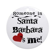 Santa Barbara Loves Me Ornament (Round)