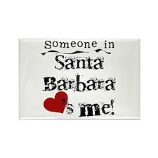 Santa Barbara Loves Me Rectangle Magnet