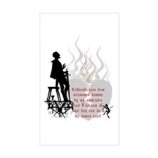 Redhead Demon Quote Rectangle Decal