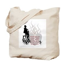 Redhead Demon Quote Tote Bag