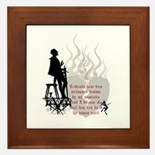 Redhead Demon Quote Framed Tile