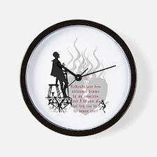 Redhead Demon Quote Wall Clock