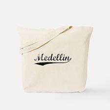 Vintage Medellin (Black) Tote Bag