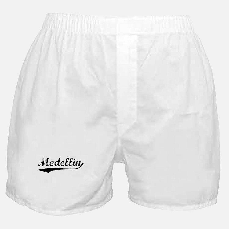 Vintage Medellin (Black) Boxer Shorts