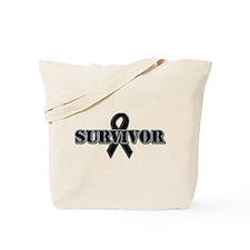 Black Ribbon Survivor Tote Bag