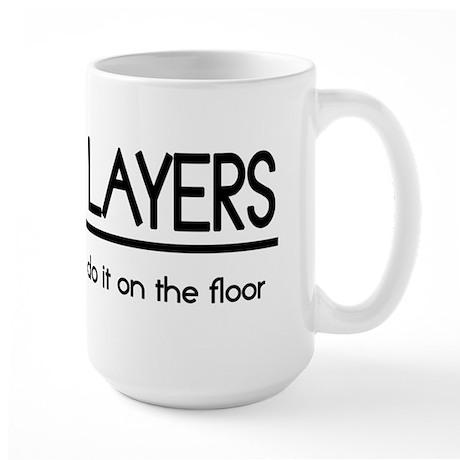 Carpet Layer Joke Large Mug